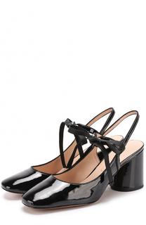Лаковые туфли на шнуровке Marc Jacobs