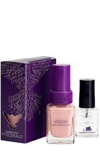 Лак для ногтей Volich / Розово-терракотовый + Bond-подготовка Christina Fitzgerald