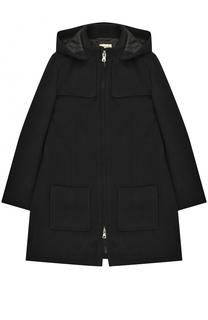 Пальто из смеси шерсти и кашемира свободного кроя на молнии Giorgio Armani