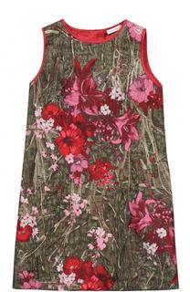 Мини-платье А-силуэта с металлизированной отделкой и вышивкой Dolce & Gabbana