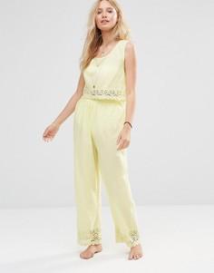 Пляжные брюки и топ Anmol Co-Ord - Желтый