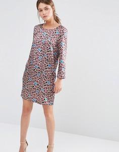 Цельнокройное платье со звериным принтом See U Soon - Фиолетовый
