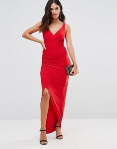 Платье макси с разрезом Honor Gold Hallie - Красный