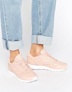 Классические кожаные кроссовки телесного цвета Reebok - Розовый