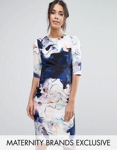 Платье-футляр с цветочным принтом Little Mistress Maternity - Мульти