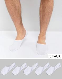 Набор из 5 пар невидимых носков Jack & Jones - Белый