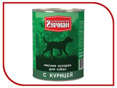 Корм Четвероногий Гурман Мясное ассорти с курицей 340g для собак 11899