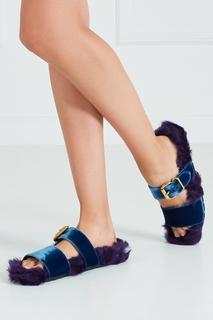 Меховые сандалии Prada