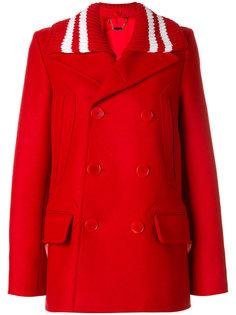 короткое пальто со съемным воротником  Givenchy