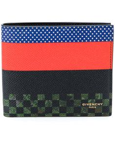 двухцветный бумажник дизайна колор-блок Givenchy
