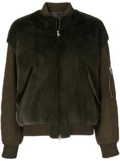 куртка-бомбер с контрастной отделкой  Blancha