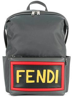 logo patch backpack Fendi