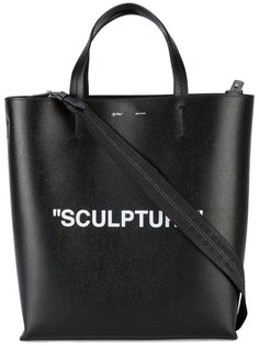 large Sculpture printed tote Off-White