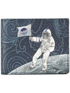 бумажник с принтом астронавта Etro