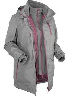 Мультифункциональная куртка (серый) Bonprix