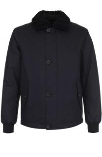Куртка с меховой отделкой на воротнике Z Zegna