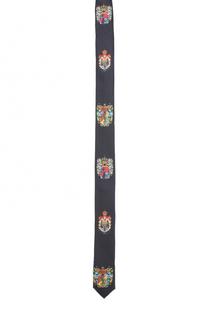Шелковый галстук с принтом Dolce & Gabbana