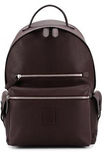 Кожаный рюкзак с внешним карманом на молнии Bertoni
