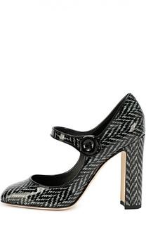 Лаковые туфли Vally с принтом Dolce & Gabbana