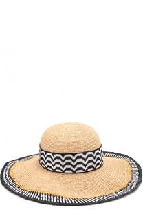 Пляжная шляпа из смеси вискозы и соломы Missoni