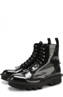 Кожаные ботинки с декоративной отделкой Neil Barrett
