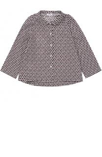 Хлопковая блуза с принтом Il Gufo