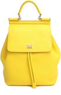 Кожаный рюкзак с клапаном Sicily Backpack Dolce & Gabbana