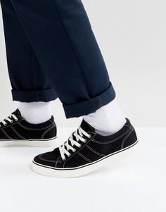 Черные парусиновые кроссовки на шнуровке ASOS - Черный