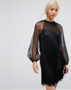 Платье с бахромой Tresophie - Черный