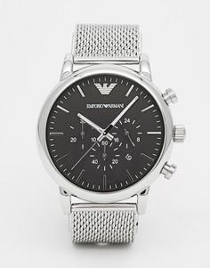 Часы с хронографом из нержавеющей стали Emporio Armani AR1808 - Серебряный