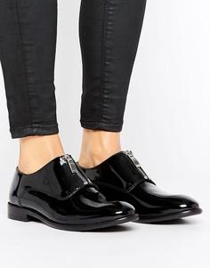 Туфли на плоской подошве на молнии H by Hudson - Черный
