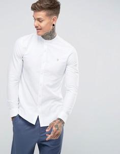 Белая приталенная оксфордская рубашка Farah Brewer - Белый