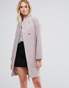 Фактурное пальто-накидка ASOS - Розовый