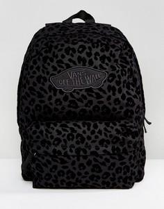 Черный рюкзак с леопардовым эффектом Vans - Черный