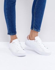 Белые кроссовки с жемчужно-розовой отделкой K-Swiss Court Frasco - Белый