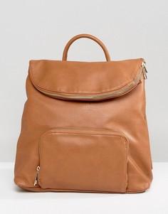 Рюкзак с клапаном Liquorish - Рыжий