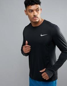 Черный лонгслив Nike Running Miler 833593-010 - Черный