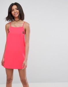Платье с люверсами ASOS - Розовый