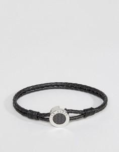 Черный кожаный браслет Ted Baker - Черный
