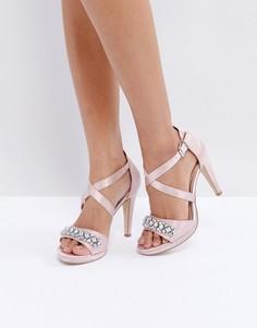Босоножки на каблуке с декоративной отделкой Head Over Heels by Dune Maisy - Розовый