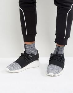 Серые трикотажные кроссовки adidas Originals Tubular Doom BY3550 - Серый