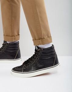 Черные кожаные кроссовки Vans Sk8-Hi Premium VA38GEOE6 - Черный