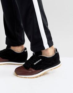 Черные кожаные кроссовки Reebok Classic LS BS5079 - Черный