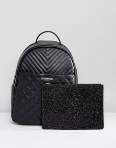 Стеганый рюкзак со съемным клатчем ALDO Ventea - Черный