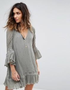 Платье с вышивкой Stevie May The Sleepers - Зеленый