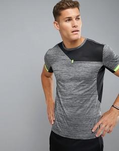 Спортивная футболка из полихроматического трикотажа YOURTURN - Черный