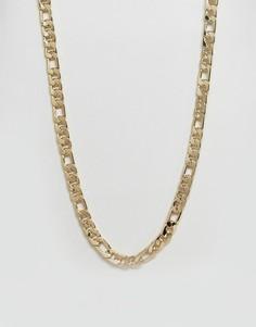 Позолоченная толстая цепочка ASOS - Золотой