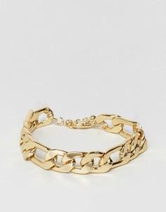 Массивный позолоченный браслет-цепочка ASOS - Золотой