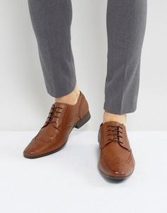Светло-коричневые броги Burton Menswear - Рыжий