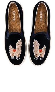 Вельветовые сникерсы llama - Soludos